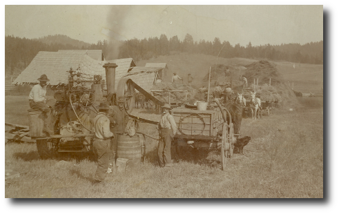 historic image of Threshing