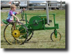 Child on tractor